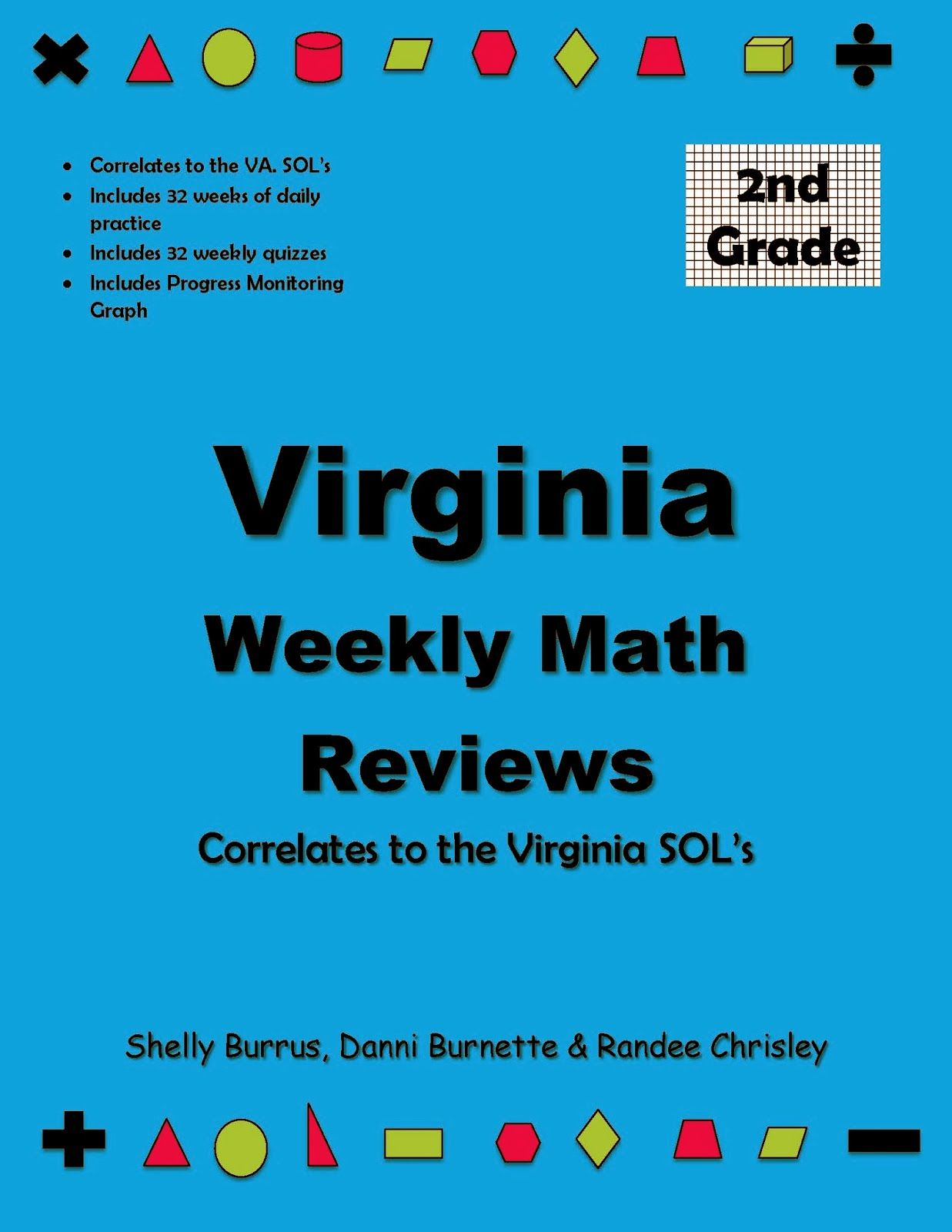 Virginia Weekly Math Reviews Grade 2 | School | Pinterest | Math ...