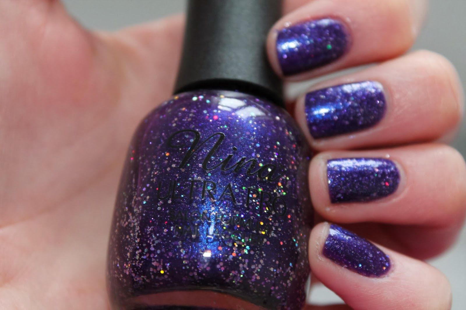 Nina Ultra Pro Nail Polish - Purple Nail Varnish Swatch and Review ...