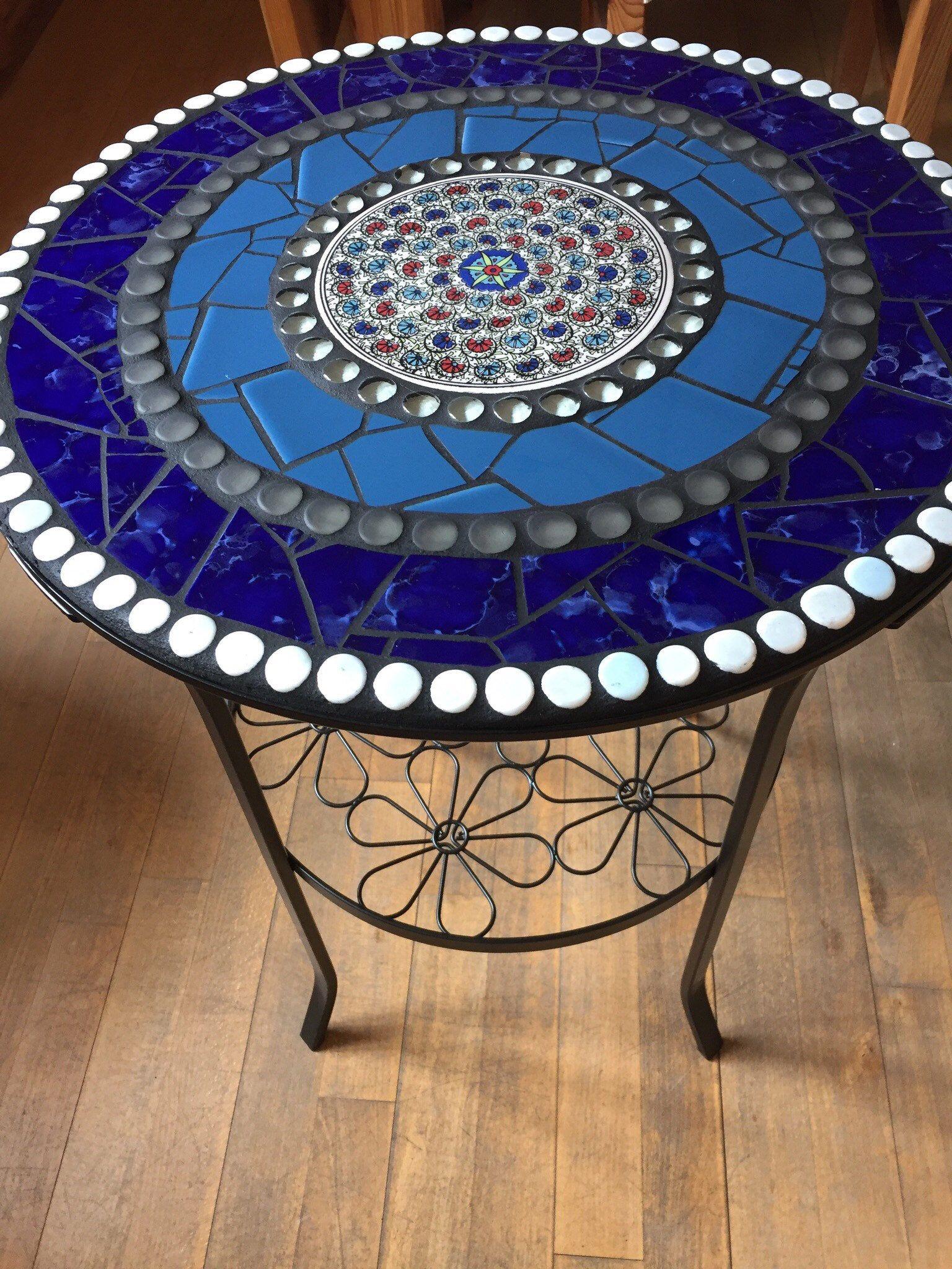 Mosaik Tisch Beistelltisch Garten Bistrotisch Mosaik
