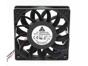 12cm case cooling fan industrial fans Delta FFB1212SH 12025 120mm DC 12V 1.24A 3-pin server inverter case axial cooler - Newegg.com