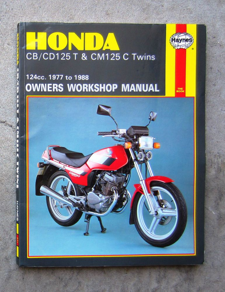 Honda Cb125 Owners Workshop Service Repair Manual Cd125 Cm125 Benly