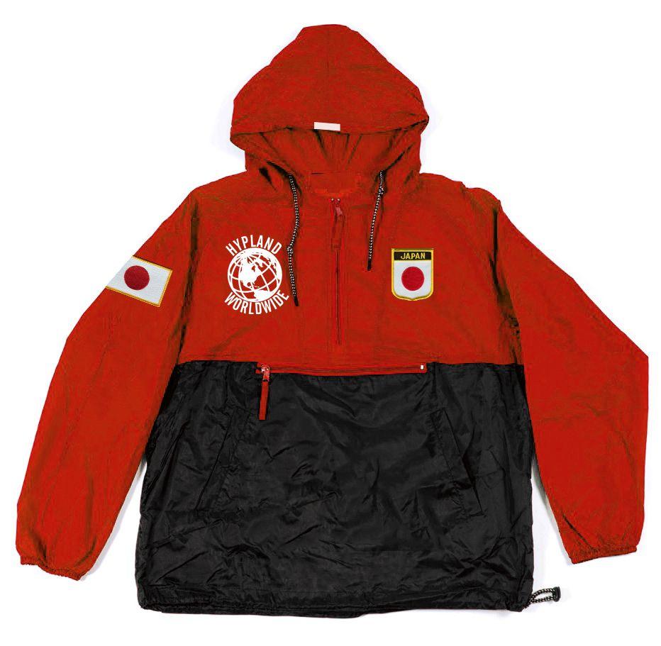 5d9d8d000f21 Image of World Famous Rain Jacket (Red Black) Japan