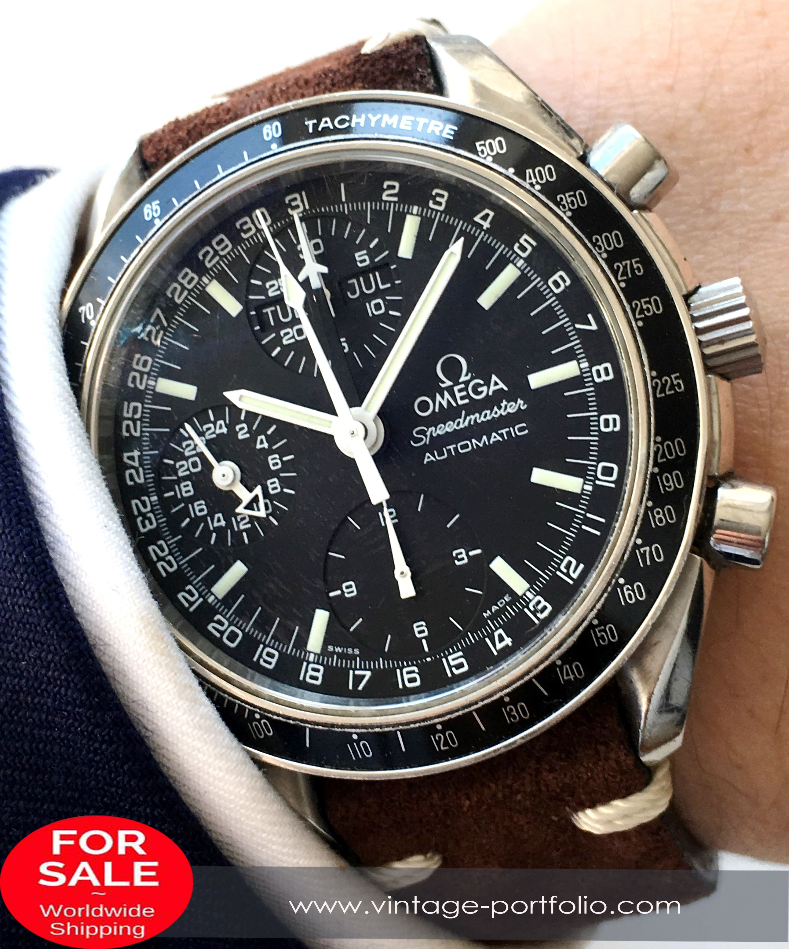 1220e060f6a Original Omega Speedmaster Automatik Automatic Reduced Triple Date  omega   omegawatches  omegavintage  vintageos  militarywatches