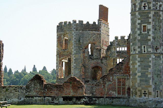 Cowdray Park, England - ruins of a Tudor Castle,