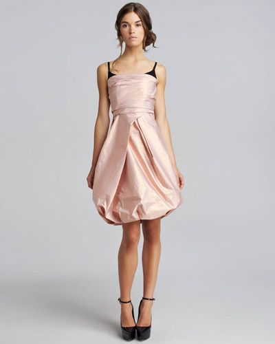 29f60b5da843 this Burberry Prorsum taffeta dress juxtaposes a polished strapless  neckline with a contrasting built-in bra. (!!)