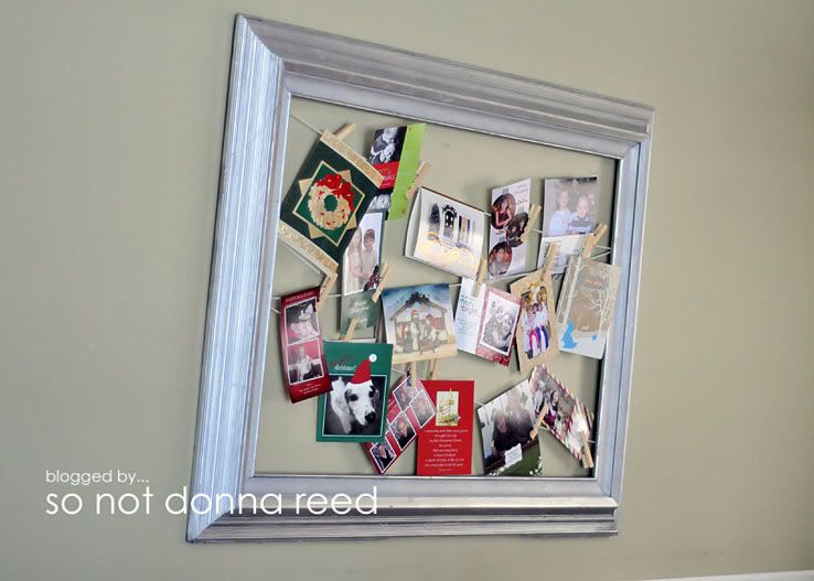 great christmas card display idea! it could be prettied up a bit