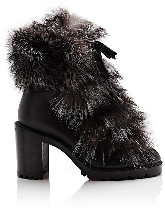 44d0c68fce4 Christian Louboutin Women's Fanny Leather & Fur Ankle Boots ...