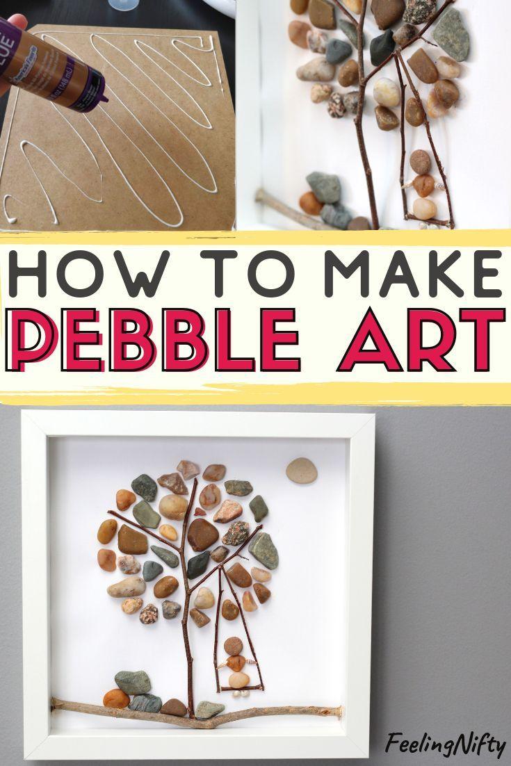 Pebble Art- Create a Super Easy DIY Pebble Art Tree {Easy Art/Craft Ideas}