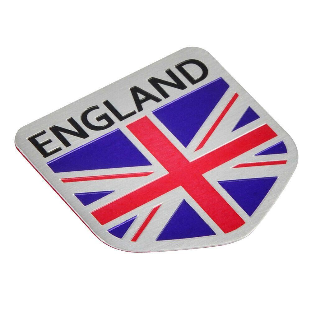 Aluminum Shield Metal England UK Flag Auto Car Grill