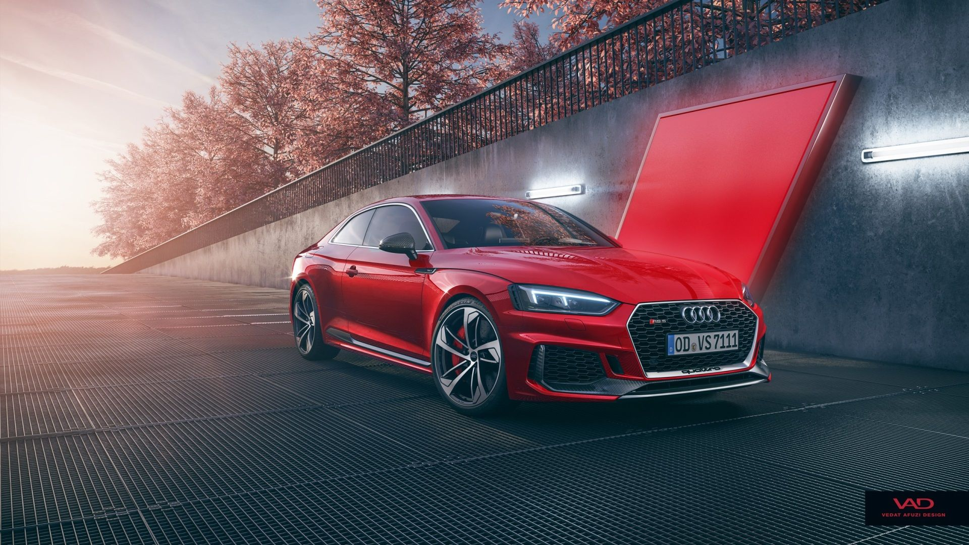audi rs5 coupe beautiful background wallpaper