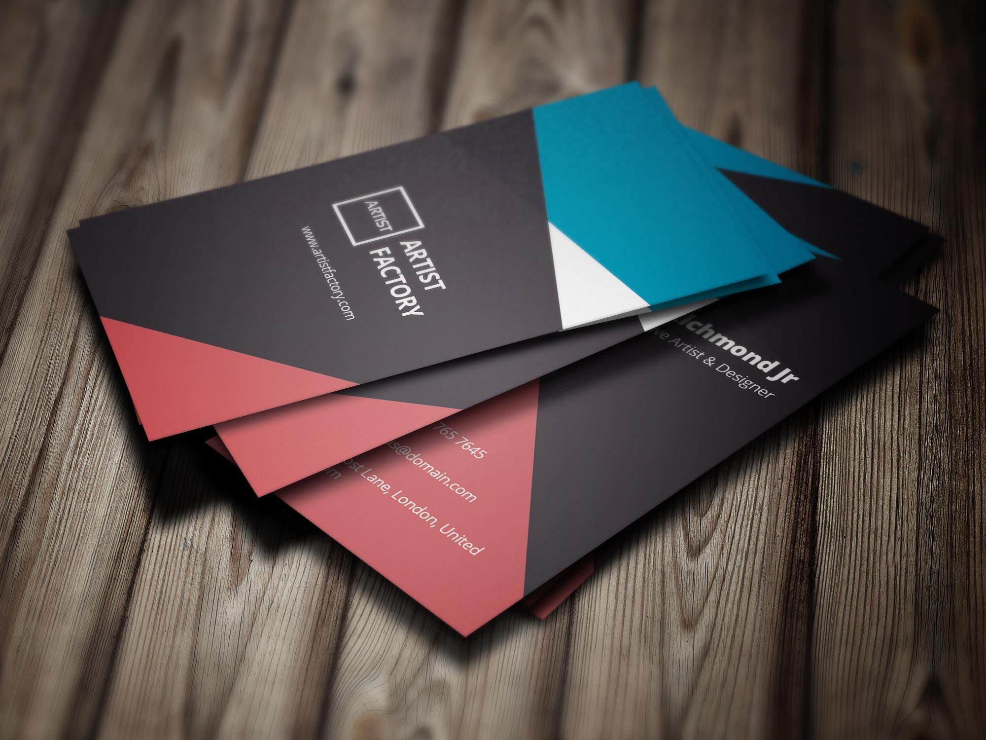 Creative Business Card Template 03 Business Cards Creative Business Cards Creative Templates Artist Business Cards Design