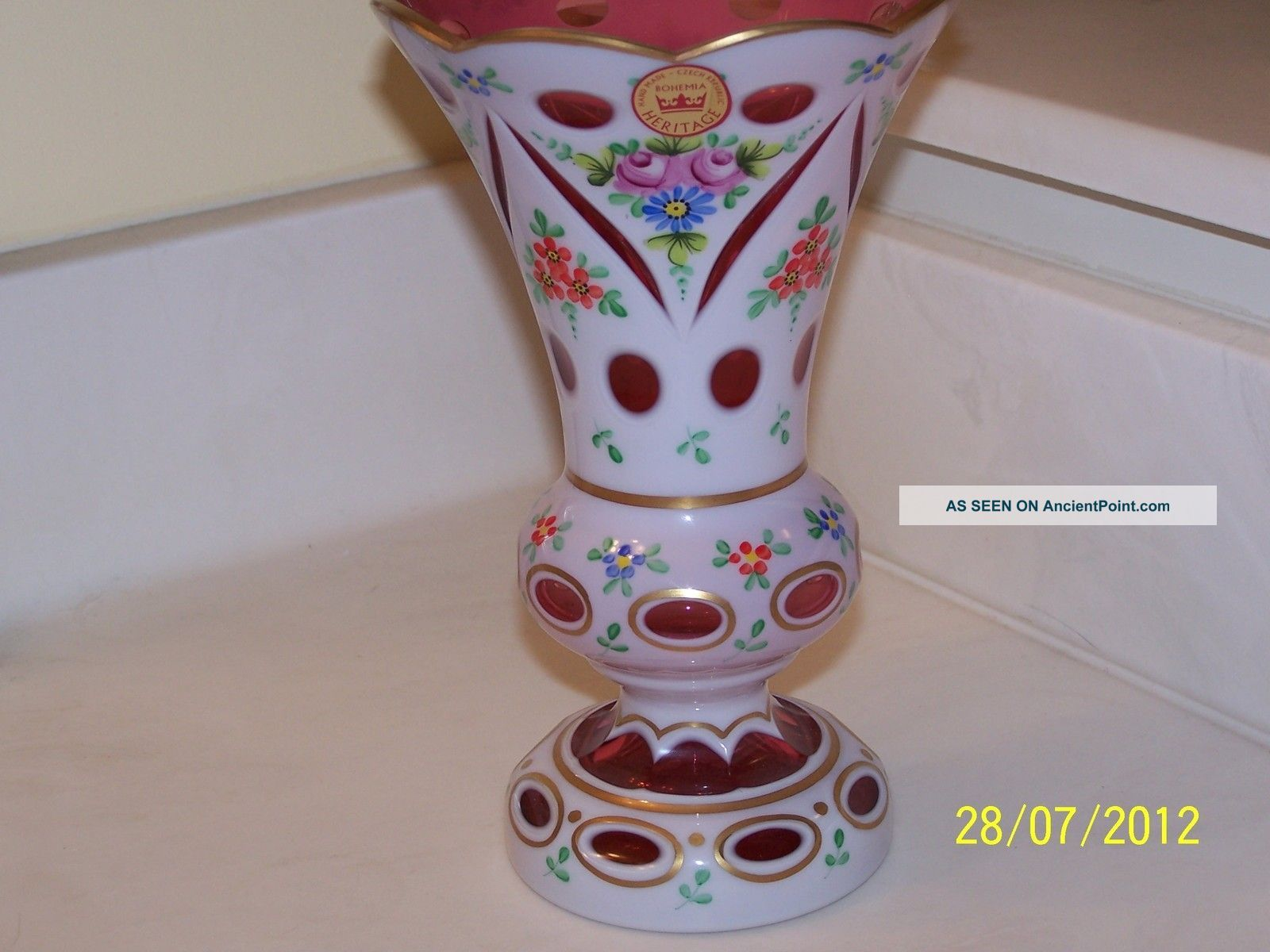 Czech decorative items czech republic bohemia heritage cranberry czech decorative items czech republic bohemia heritage cranberrymilk glass vase vases photo reviewsmspy