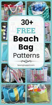 Photo of 22 Free Beach Bag Patterns  Bag Patterns to sew. 30+ free Beach Bag patterns, tu…