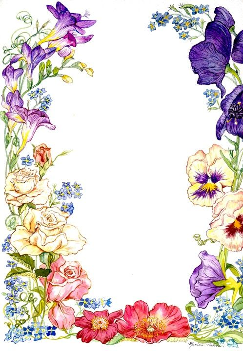 Flower Card Borders - ClipArt Best | like ..extra flowers ...