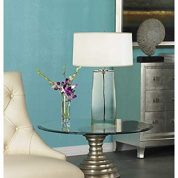 A clear robert abbey table lamp makes a subtly luxurious design a clear robert abbey table lamp makes a subtly luxurious design statement aloadofball Choice Image