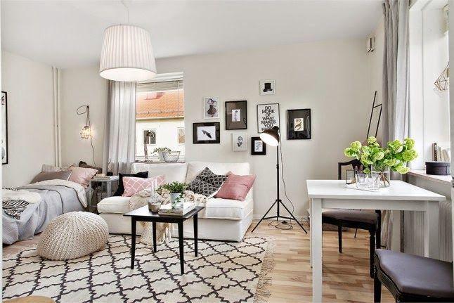 28m2 de estilo n rdico con toques de rosa empolvado en for Design nordico on line