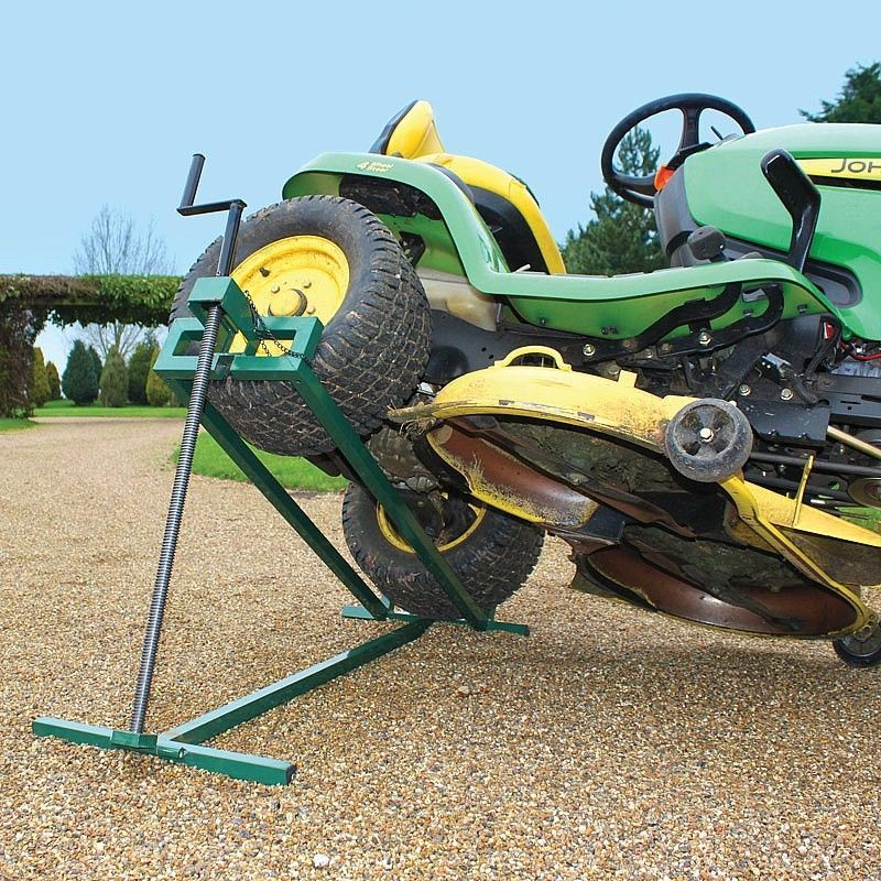 420652d1428856421 Riding Mower Lift Jack Stand 57 Jpg 800 800 Pixels Welding Table Welding Lawn Mower