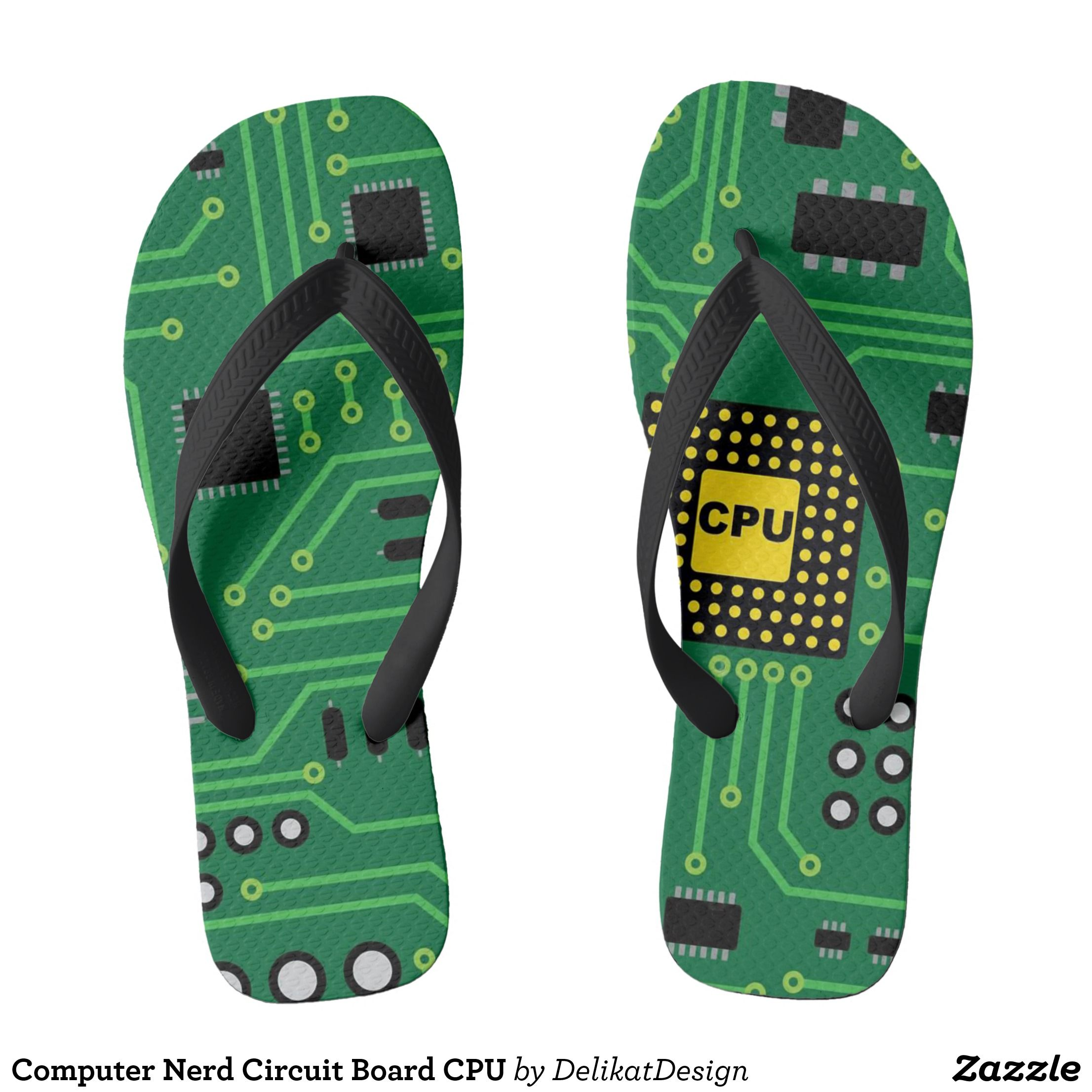 Computer Nerd Circuit Board Cpu Flip Flops Mens Sneakers Canvas Top Rubber Sole Athletic Shoes By Talented Fashion And Graphic Designers Footwear