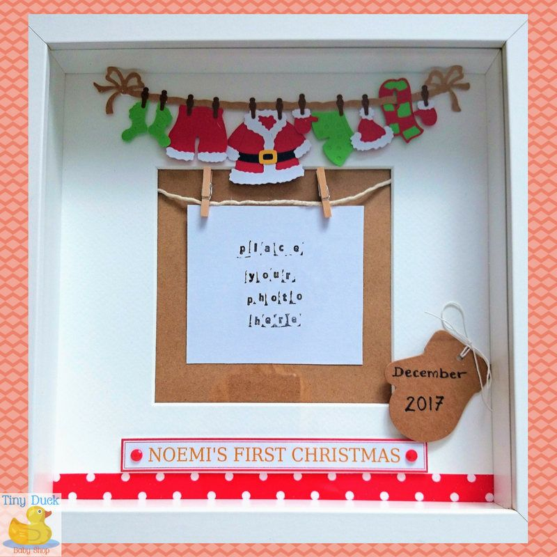 Our First Christmas Personalised Shadow Box~Baby First Christmas ...