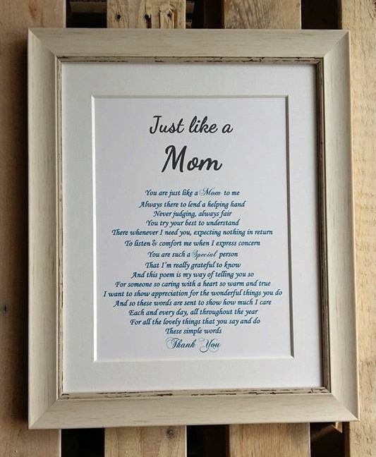 Mothers Day Present For Step Mum Just Like A Mum Stepmom Etsy Step Mom Gifts Step Mom Quotes My Step Mom