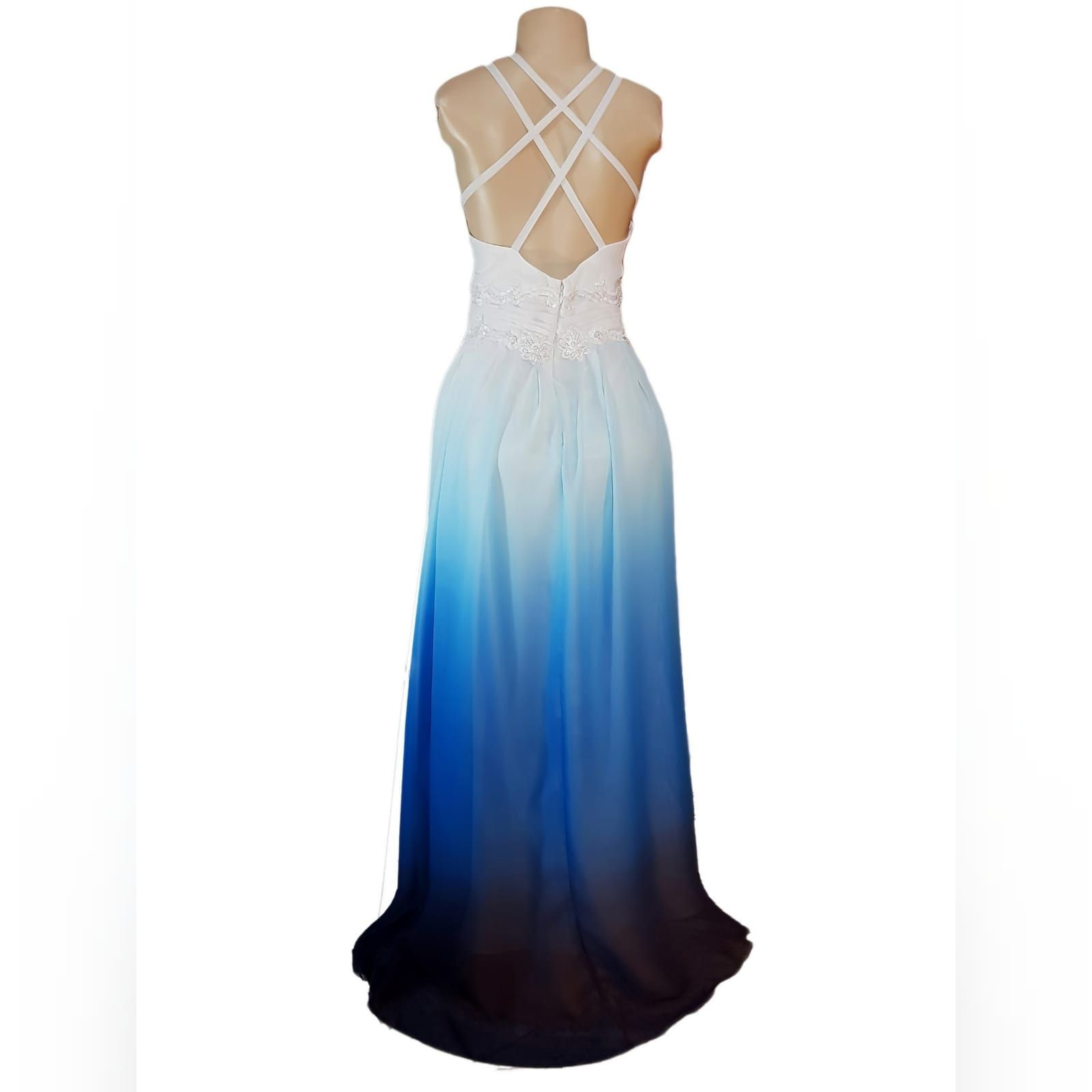 Blue And White Ombre Beach Wedding Dress In 2020 With Images