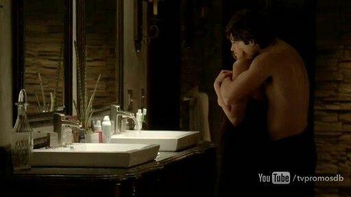 Tvd Episode Still 6x17 Delena In Damons Bathroom The Vampire