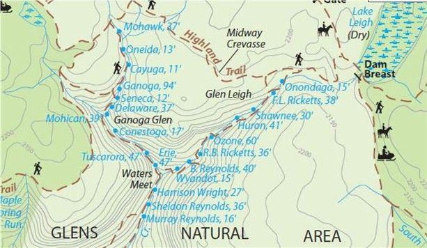 Rickett's Glen PA Waterfall Map | Ricketts Glen State Park ... on glen onoko falls map, ricketts glen cabin map, glen onoko run trail, ricketts glen trail map, waterfall glen hiking map, storm king state park map, lehigh gorge state park map, oak glen hiking trail map, ricketts glen state park map, watkins glen state park map, dupont state park map,