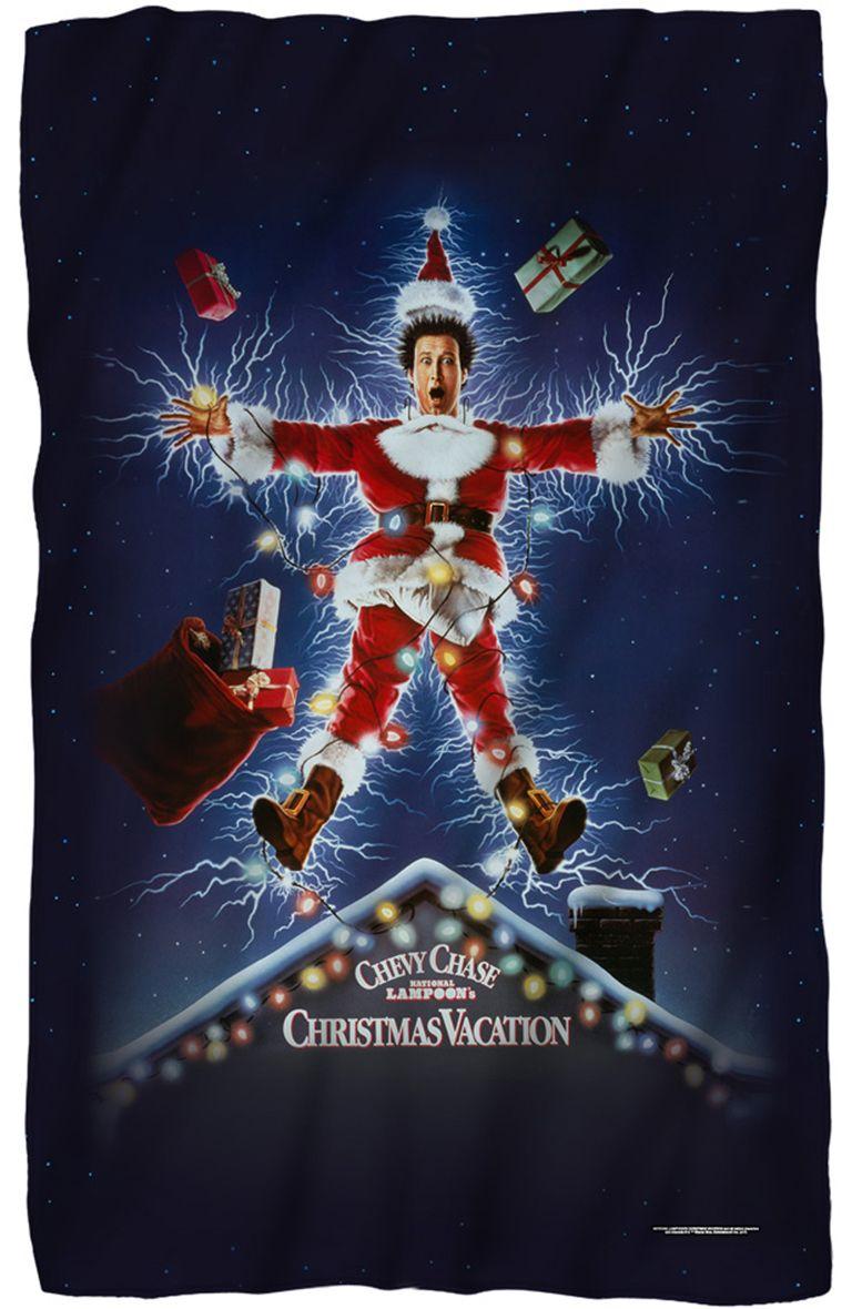 "Christmas vacation movie poster fleece blanket 36"" x 58"