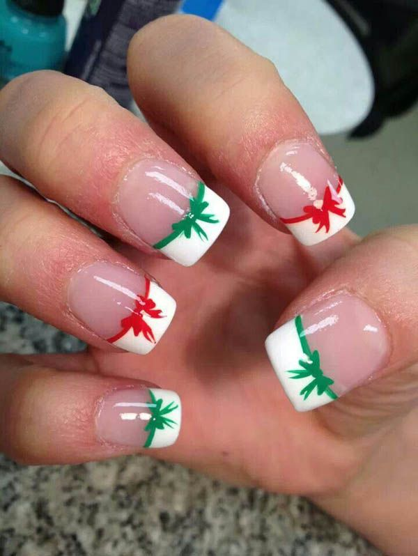 50 Amazing and Easy Christmas Nail Designs and Nail Arts | Easy ...