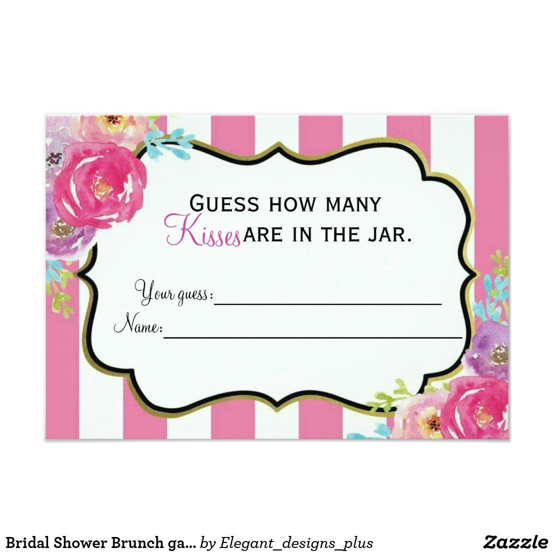 Bridal shower brunch game card bridal