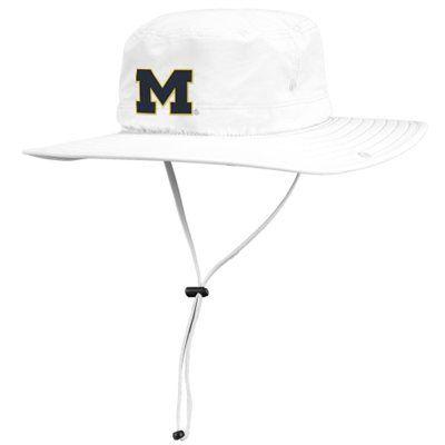 1bc1f29c340 Michigan Wolverines adidas Safari Bucket Hat – White