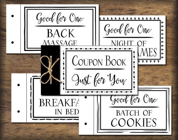 coupon book printable  black  u0026 white  instant by