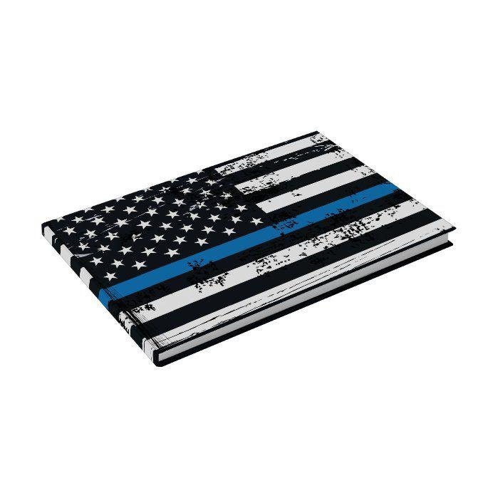 Thin blue line USA Flag Blue Lives Matter WWGOWGA Guest Book
