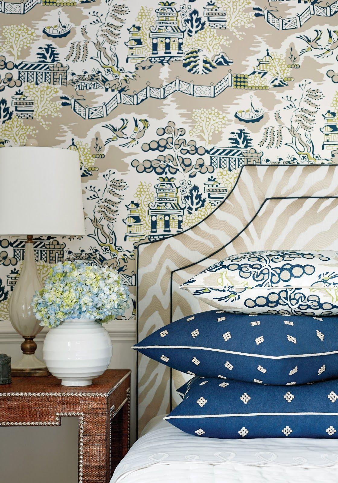 Chinoiserie Chic: New Thibaut Collection #fabric #interiordesign