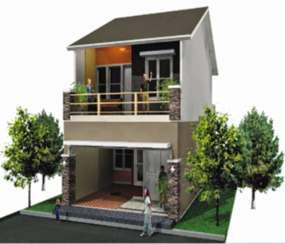 Desain Rumah Minimalis Modern Type 36 2 Lantai | Huniankini