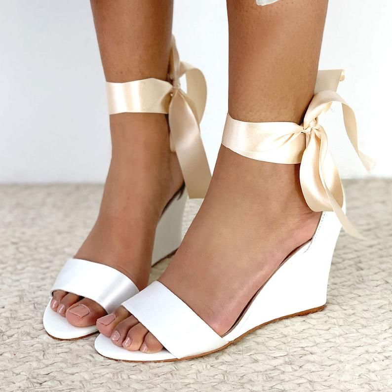 Ivory Bridal Wedge Wedding Wedge Comfortable Wedding Shoe Etsy Ivory Bridal Shoes Ivory Wedding Shoes Bridal Shoes