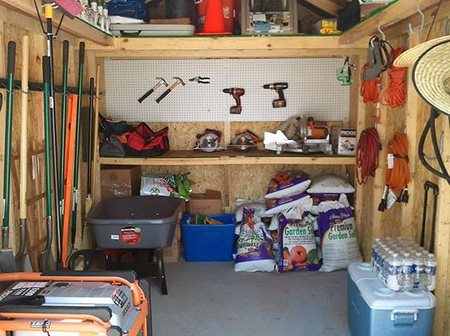 A Storage Shed That Is Very Tidy And Organized Storage