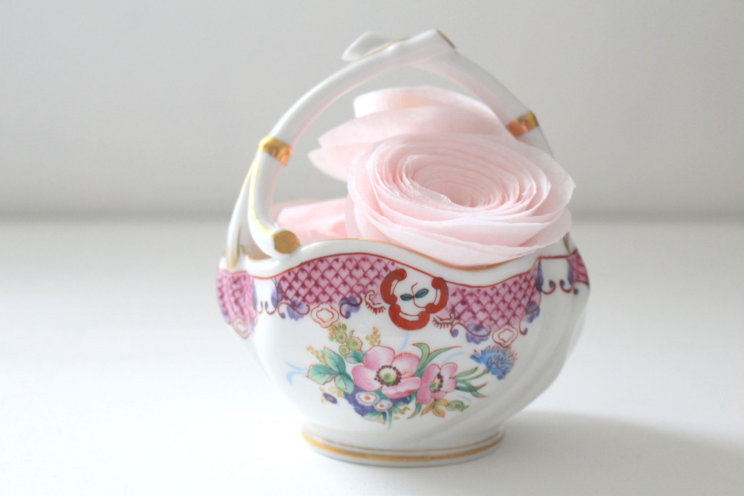 Vintage hinode japan porcelain basket gifts for her victorian style vintage hinode japan porcelain basket gifts for her victorian style home decor easter candy bowl by negle Gallery