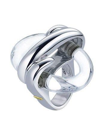 Masini anillo plata esterlina y cristal murano ovalado transparente bijuterii pinterest - Anillo cristal murano ...