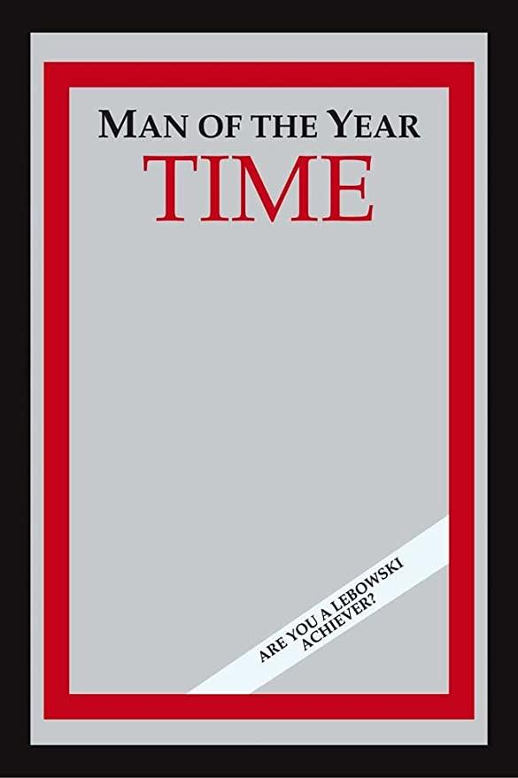 Amazon Com The Big Lebowski Time Man Of The Year Bar Mirror Size 9 X 12 Home Kitchen The Big Lebowski Magazine Cover Template Bar Mirror