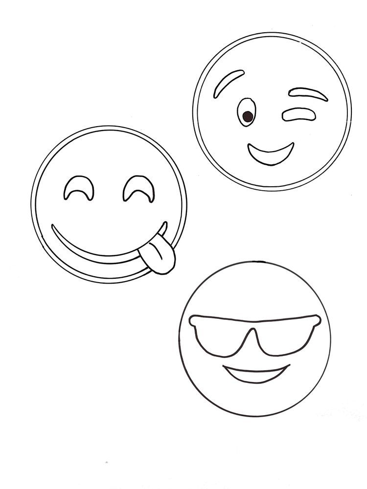 Emoji Coloring Pages Free Printable When Chatting Or Sending Messages Via Smartphone Some People Like Coloring Pages Emoji Coloring Pages Cool Coloring Pages