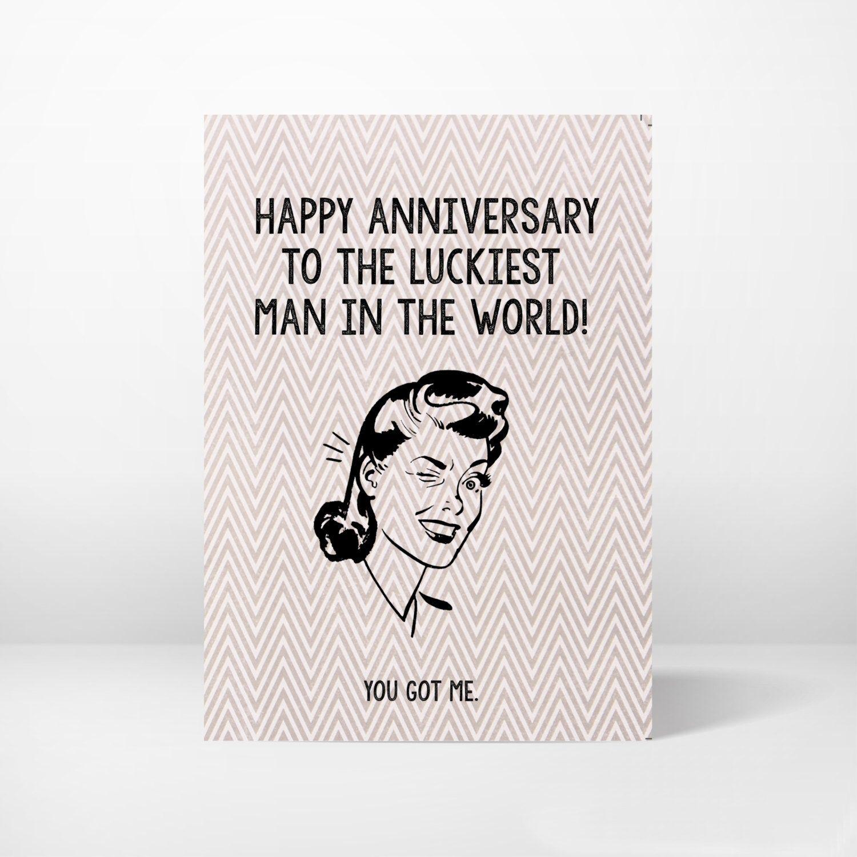 Anniversary Card Greeting Card Funny Whimsical Printable 5x7