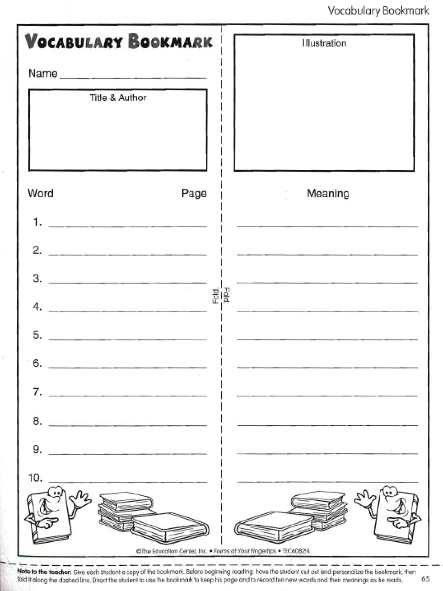Reading vocabulary bookmark free guided reading pinterest tired of students skipping words they don know give them this vocabulary bookmark to help them read for understanding includes lines for ten words publicscrutiny Image collections