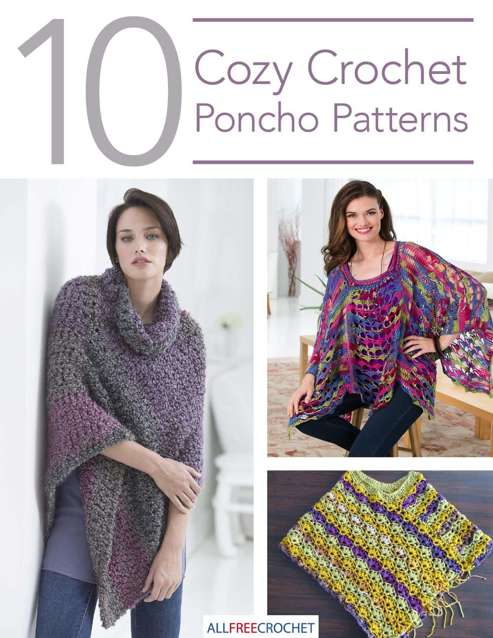 10 Cozy Crochet Poncho Patterns | Pinterest | Chaqueta de ganchillo ...