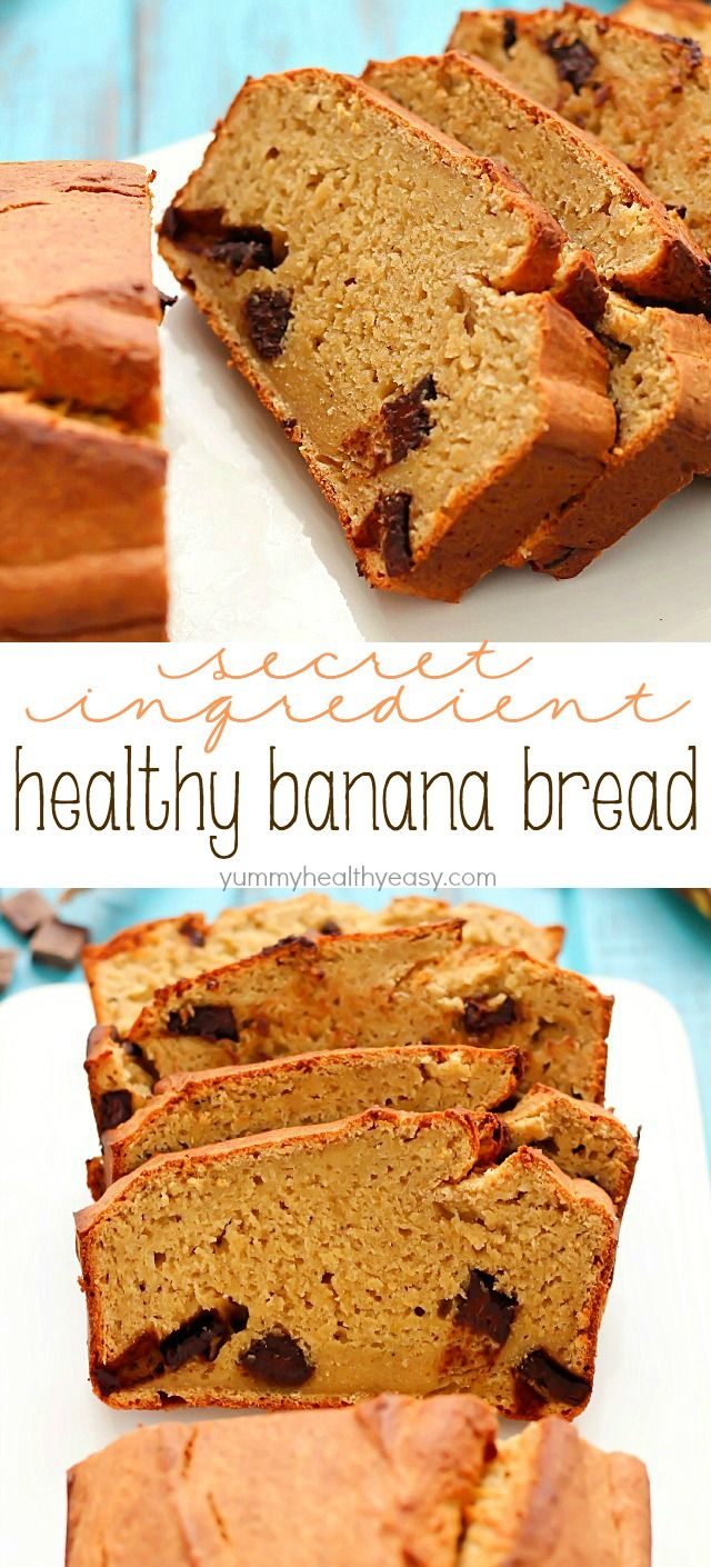 Secret ingredient healthy banana bread recipe healthy banana healthy banana bread recipe made with a secret ingredient and all in the food forumfinder Image collections