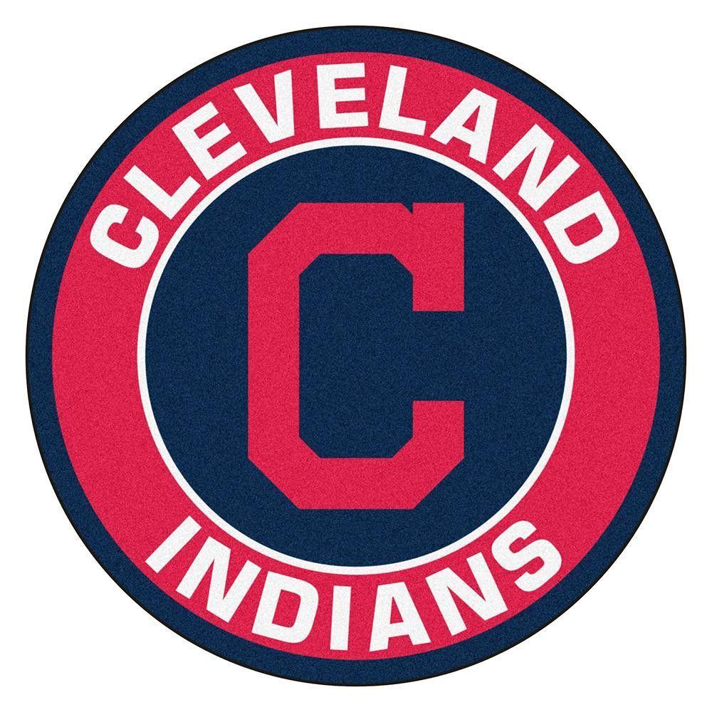 Cleveland Indians Mlb Round Floor Mat 29 Cleveland Indians Logo Cleveland Indians Indians Baseball