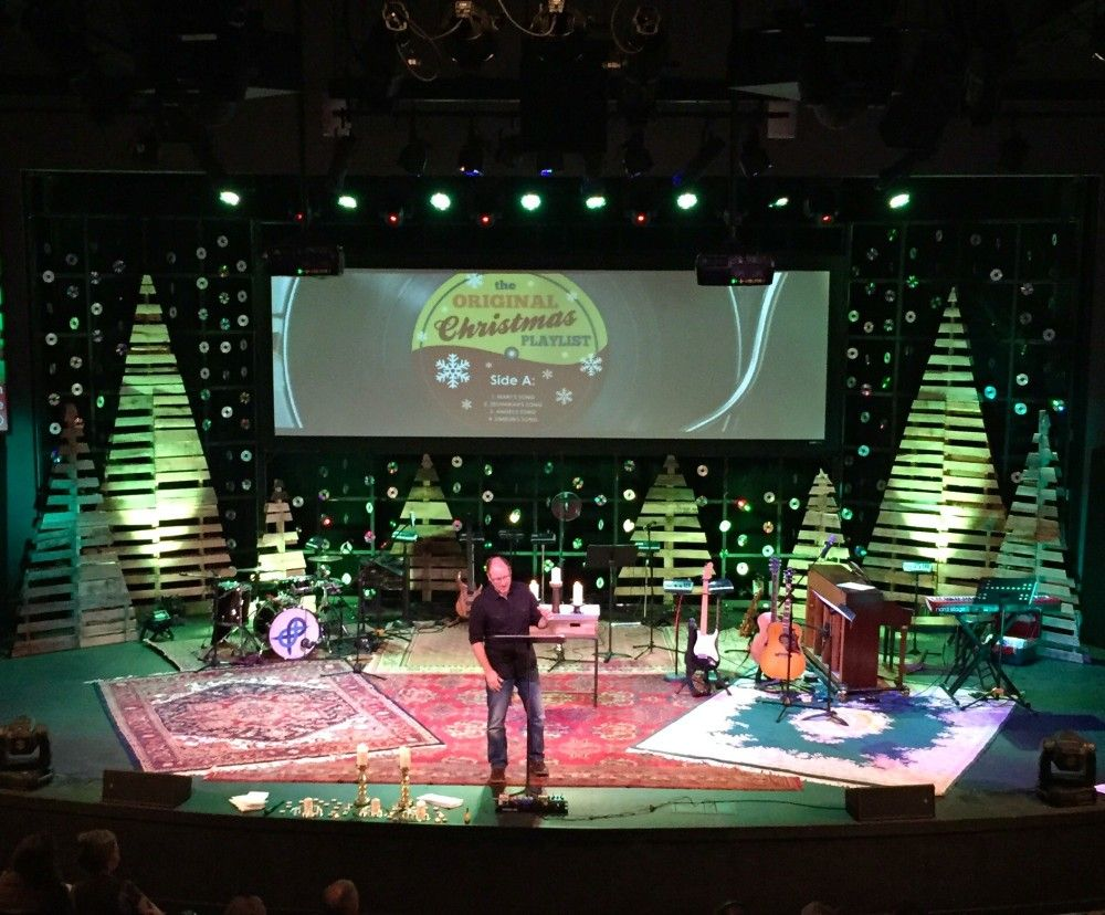 CD Flakes From Lake Forest Church In Huntersville, NC | Church Stage Design  Ideas