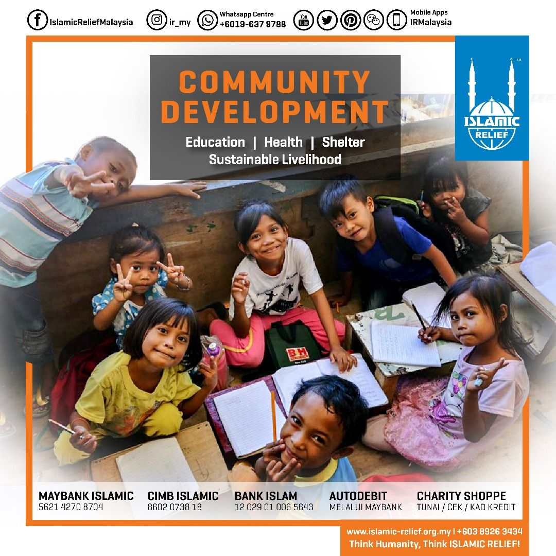 Community Development Islamic Relief Malaysia Islamic Relief Humanity Work Together Donate Islamic Relief Health Education Community Development