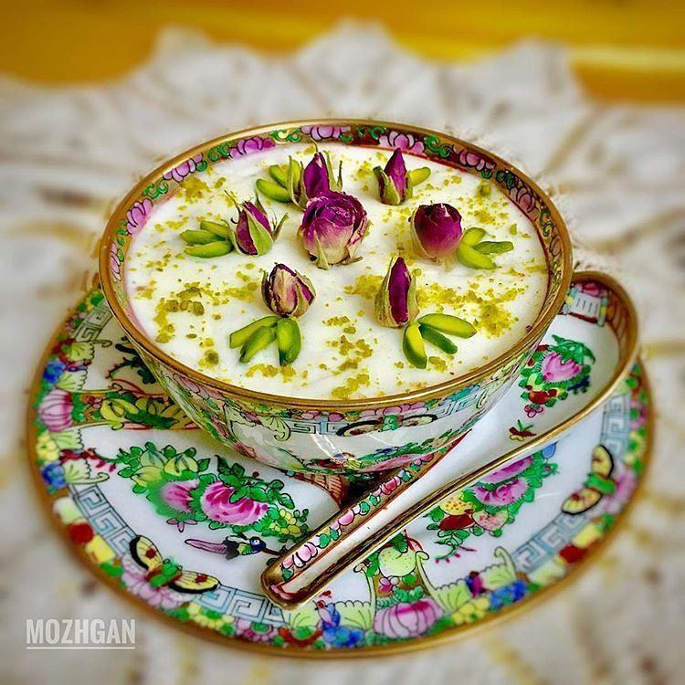 آشپزی کدبانوها On Instagram سلام دوستان جان اولين روز ماه پر خير و بركت رمضان بر شما مومنان روزه دار مبارك طاعات و عباد Tea Cups Desserts Tableware