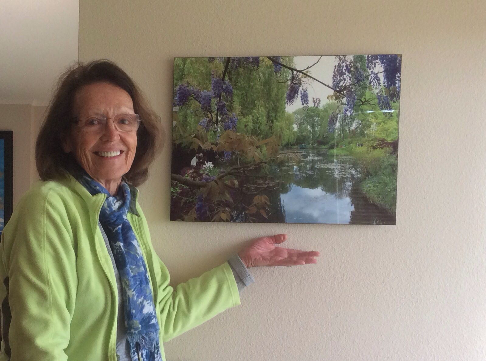 My Photo printed on metal of Monet's garden